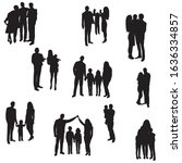 vector  isolated  silhouette... | Shutterstock .eps vector #1636334857