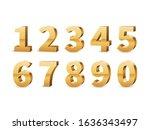gold 3d numbers. big golden... | Shutterstock .eps vector #1636343497