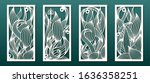 laser cut templates  set of...   Shutterstock .eps vector #1636358251