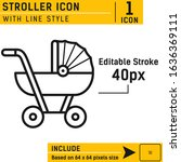 stroller icon isolated on white ...