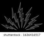 thunder lightning bolts... | Shutterstock .eps vector #1636416517