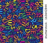 multicolor english alphabet... | Shutterstock . vector #163642844