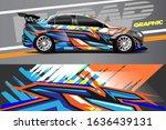 car decal design vector.... | Shutterstock .eps vector #1636439131