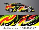 car decal design vector.... | Shutterstock .eps vector #1636439197
