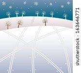 winter highland | Shutterstock .eps vector #163646771