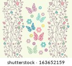beautiful baby vintage greeting ... | Shutterstock . vector #163652159