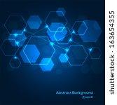 digital scheme abstract... | Shutterstock .eps vector #163654355