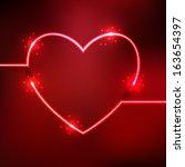 vector illustration of red... | Shutterstock .eps vector #163654397