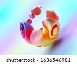 3d Render Of Abstract Art Peac...