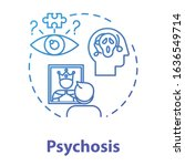 psychosis concept icon. psychic ...