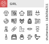 Set Of Girl Icons. Such As...