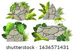 stone boards decoration liana...   Shutterstock .eps vector #1636571431