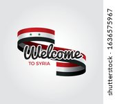 welcome to syria flag.... | Shutterstock .eps vector #1636575967