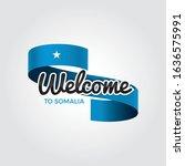 welcome to somalia flag.... | Shutterstock .eps vector #1636575991