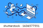 marketing automation 2020... | Shutterstock .eps vector #1636577551