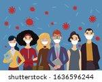 coronavirus  2019 ncov  people... | Shutterstock .eps vector #1636596244