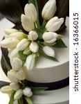 decorated wedding cake. | Shutterstock . vector #16366015