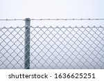 Wire Fence Covered With Frost ...