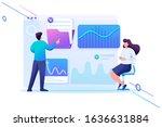 young entrepreneurs testing... | Shutterstock .eps vector #1636631884