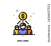 icon with business team and... | Shutterstock .eps vector #1636637521
