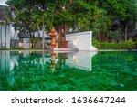 beautiful view of green swim...   Shutterstock . vector #1636647244