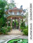 buddhist pagoda in huyen khong...   Shutterstock . vector #1636654384