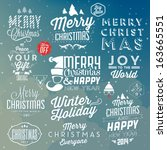 collection of christmas... | Shutterstock .eps vector #163665551