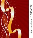 christmas gift ribbon background | Shutterstock . vector #16366597