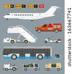 airport info graphic set with... | Shutterstock .eps vector #163667741