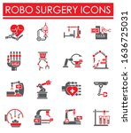 robotic surgery related icons...   Shutterstock .eps vector #1636725031