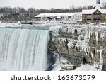 Icicles Run In Falls Down The...