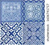 ceramic tiles azulejo portugal. ...   Shutterstock .eps vector #1636741717