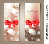 elegant christmas background... | Shutterstock .eps vector #163676291