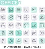 trendy line icons   office...   Shutterstock .eps vector #1636775167