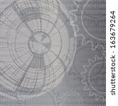 abstract gear futuristic... | Shutterstock . vector #163679264