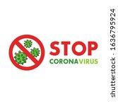 corona virus 2020. corona virus ... | Shutterstock .eps vector #1636795924