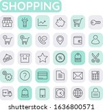 vector set of trendy inline...   Shutterstock .eps vector #1636800571