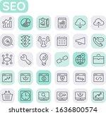 vector set of trendy inline...   Shutterstock .eps vector #1636800574