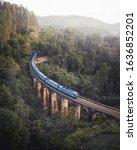 Train Crossing Nine Arch Bridge ...