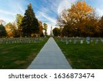 At the Antietam National Cemetery in Sharpsburg, Maryland, USA, on a sunny Evening in Fall