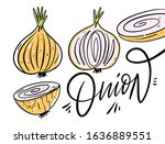 whole and half onions. hand...