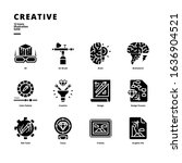 creative icon set for digital... | Shutterstock .eps vector #1636904521