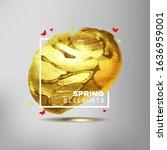 spring sale off sign over... | Shutterstock . vector #1636959001
