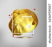 spring sale off sign over... | Shutterstock . vector #1636959007