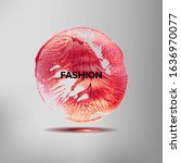 fashion. inspirational quote on ... | Shutterstock . vector #1636970077