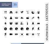 camera mode and scene icon set...   Shutterstock .eps vector #1637005231