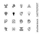 editable 16 innovation icons...   Shutterstock .eps vector #1637029207