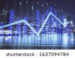 financial chart on city scape... | Shutterstock . vector #1637094784