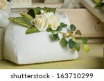 favors on a table outdoor with... | Shutterstock . vector #163710299