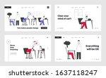 business overload and tiredness ...   Shutterstock .eps vector #1637118247